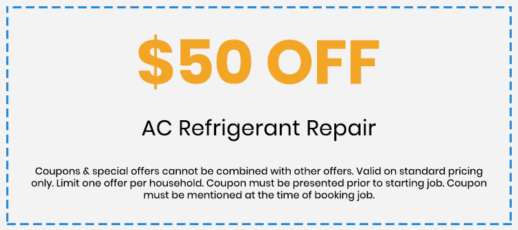 Discount on AC Refrigerant Repair
