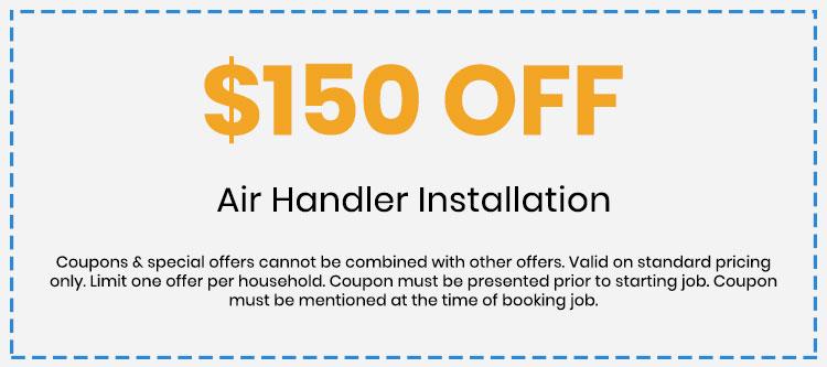 Discount on Air Handler Installation