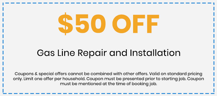 Discount on Gas Line Repair and Installation