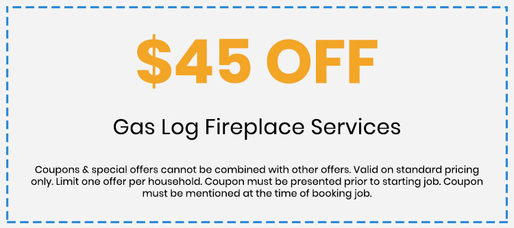 Discount on Gas Log Fireplace Services
