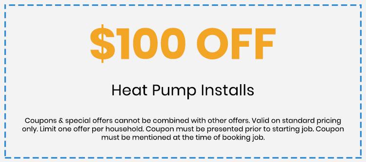 Discount on Heat Pump Installs