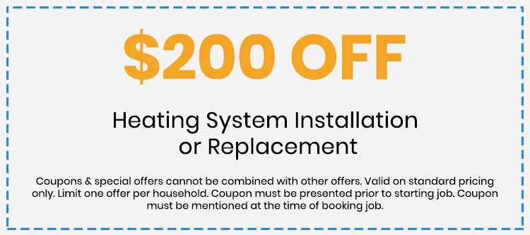 Discount on Heating System Installation or Replacement