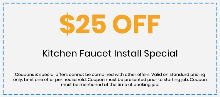 Discount on Kitchen Faucet Install