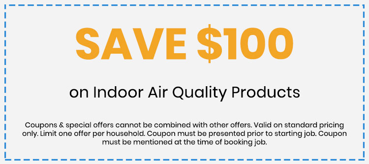 Discount on Indoor Air Quality Products