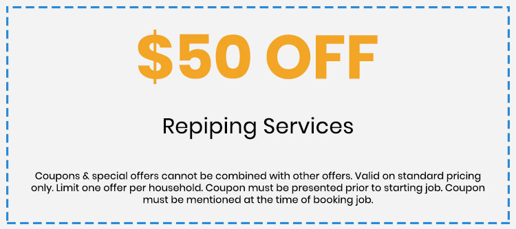 Discount on Repiping Services