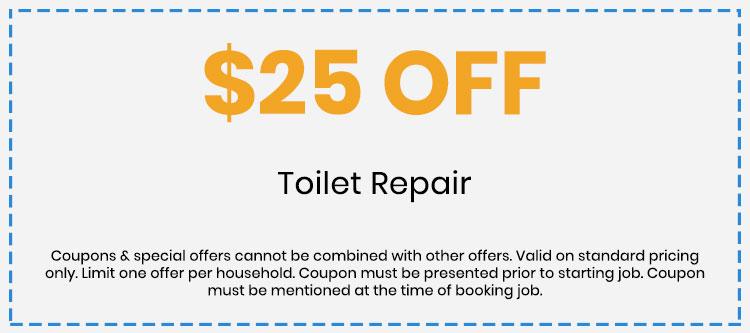 Discount on Toilet Repair